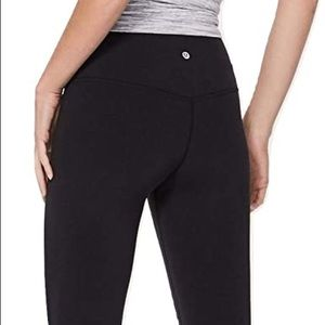 Lulu lemon black cropped leggings